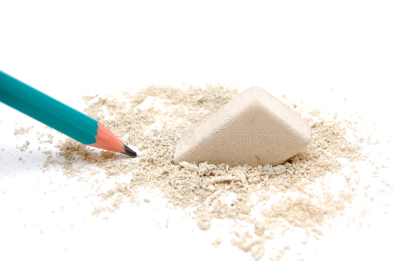 Pencil And Eraser Stock Images