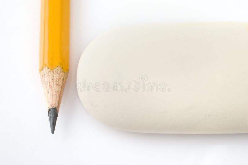 Pencil and eraser stock photos