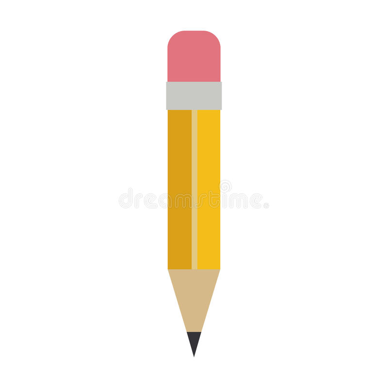 Pencil with eraser icon royalty free illustration