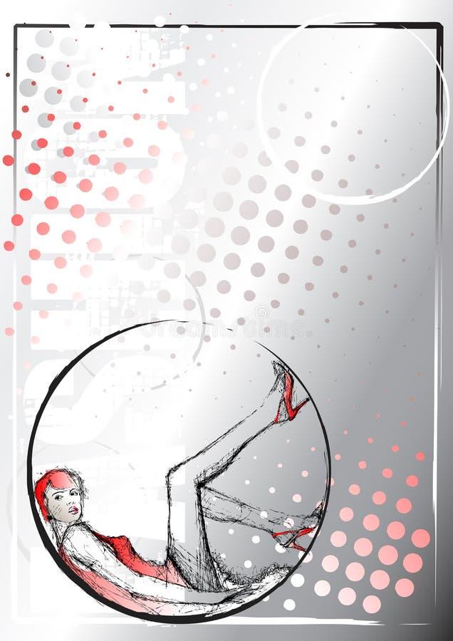 Pencil fashion sketching background