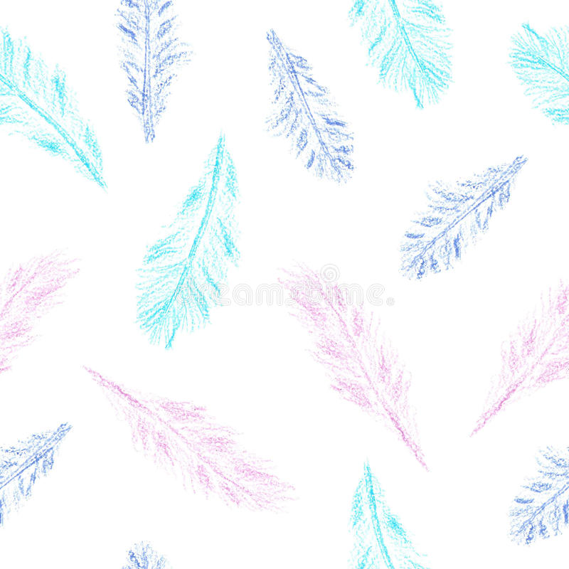 Pencil feather pattern stock photos