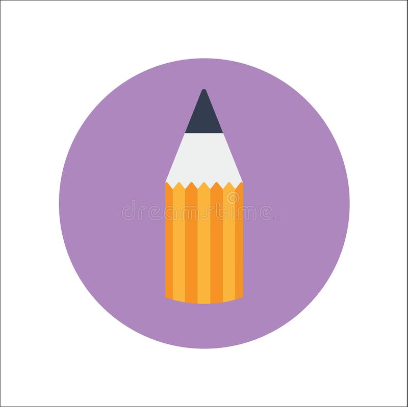 PENCIL FLAT Icon Vector stock illustration