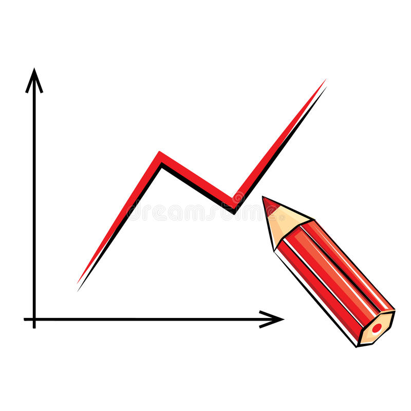Download Pencil And Graph Royalty Free Stock Photography - Image: 19825607
