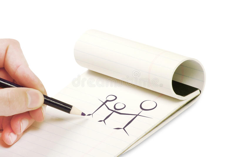 Download Pencil in hand writing stock photo. Image of message - 25170864