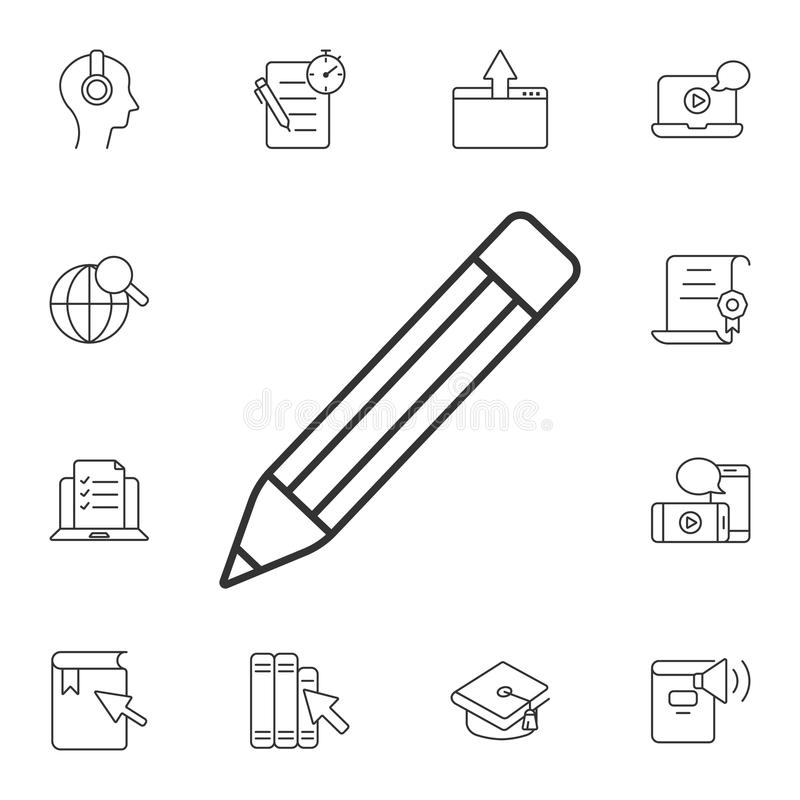 Pencil icon. Simple element illustration. Pencil symbol design from Ecology collection set. Can be used for web and mobile. On white background vector illustration