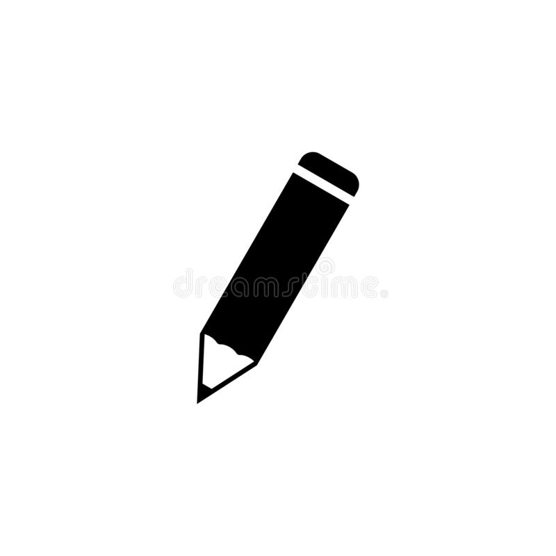 Pencil icon. simple flat vector illustration.  stock illustration