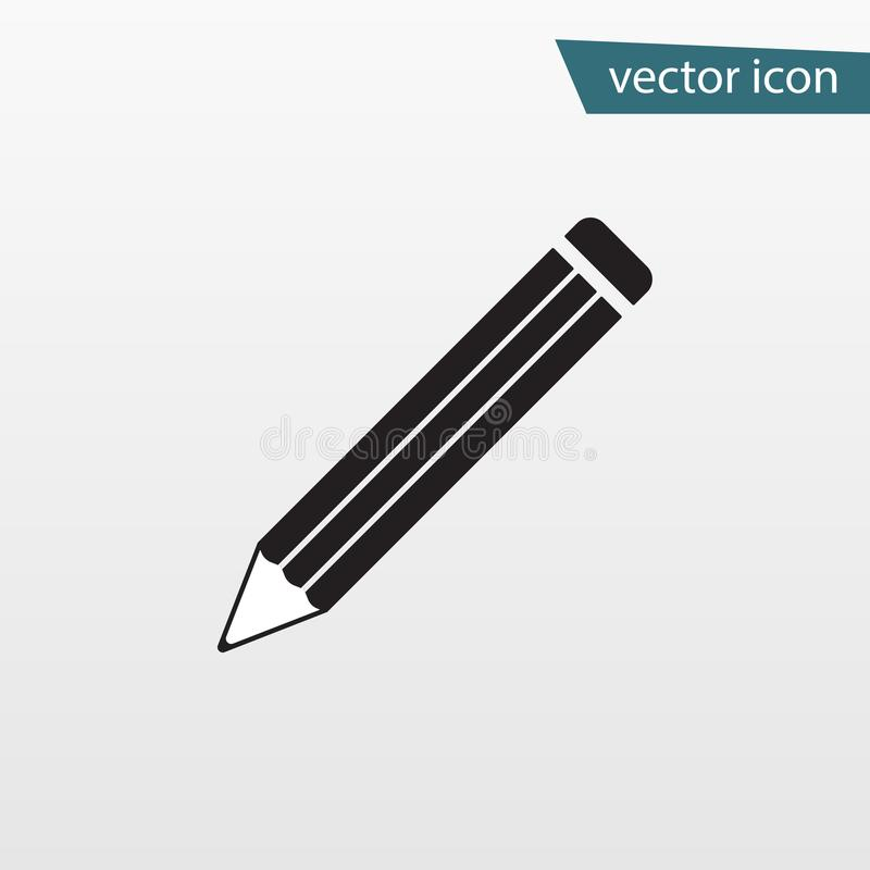 Pencil icon vector. Flat symbol isolated on white background. Trendy internet concept. Modern sign f royalty free illustration