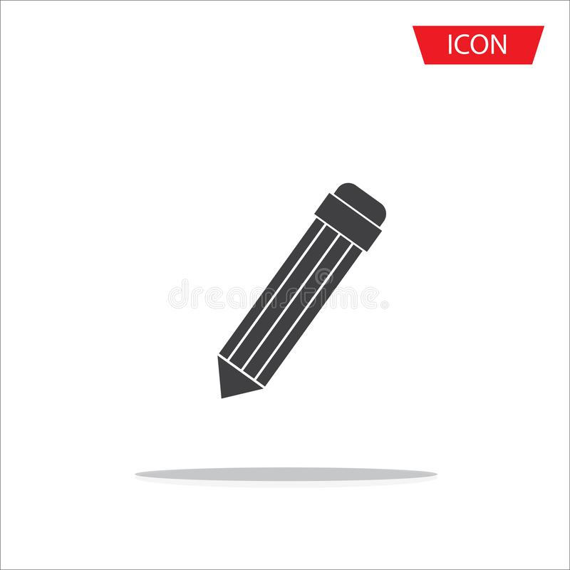 Pencil Icon Vector isolated on white background. royalty free illustration