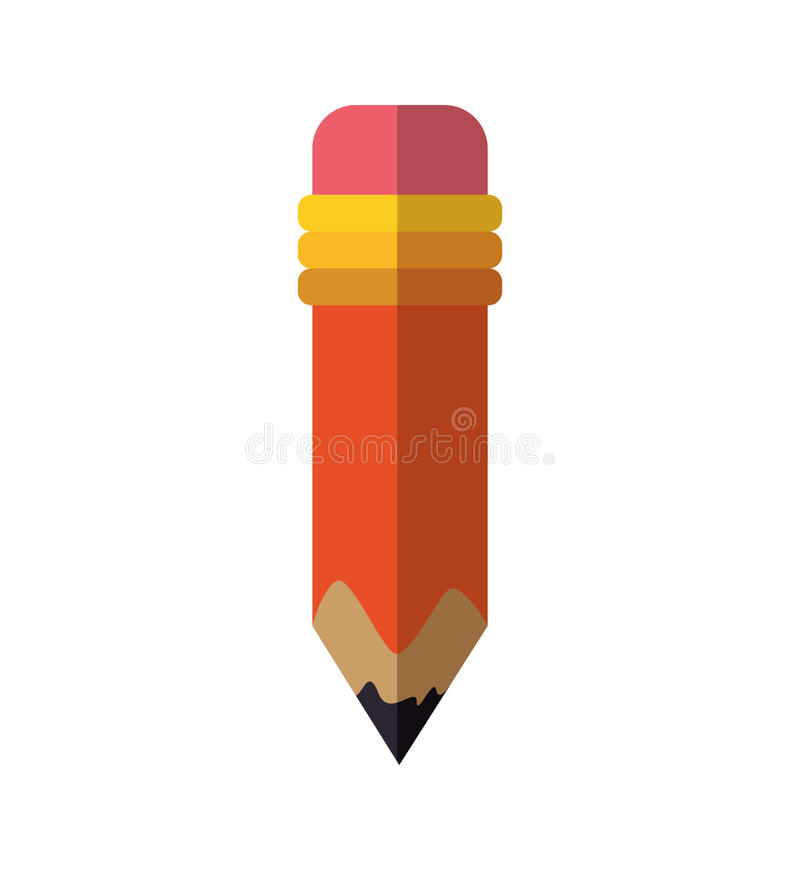 Pencil instrument write draw icon. Vector graphic royalty free illustration