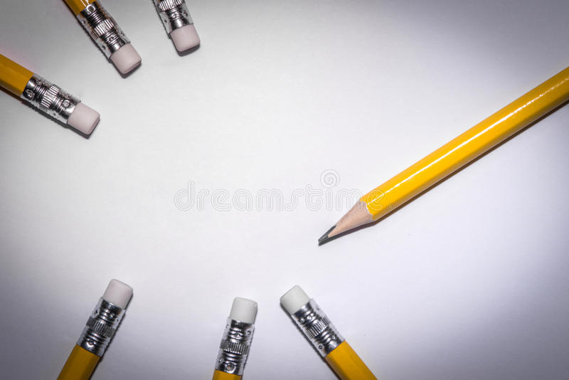 Download Pencil Isolated On Pure White Background Stock Image - Image: 83706273