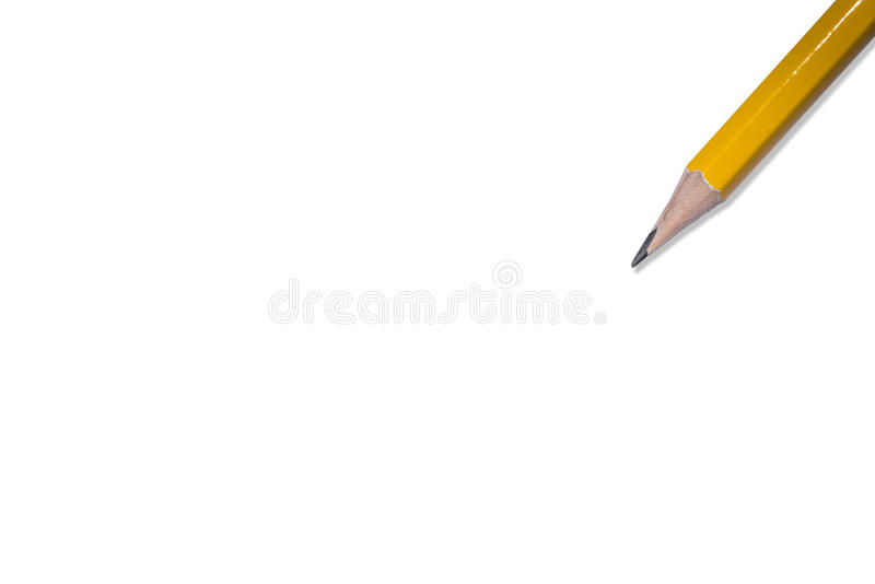 Download Pencil Isolated On Pure White Background Stock Image - Image: 83706317