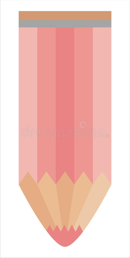 Download Pencil isolated on white stock vector. Image of drawing - 20669535