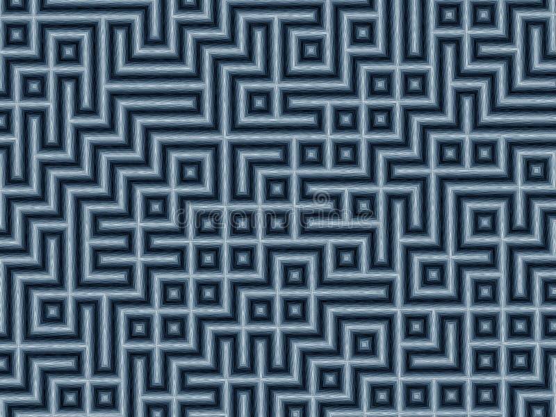 Pencil Maze stock illustration
