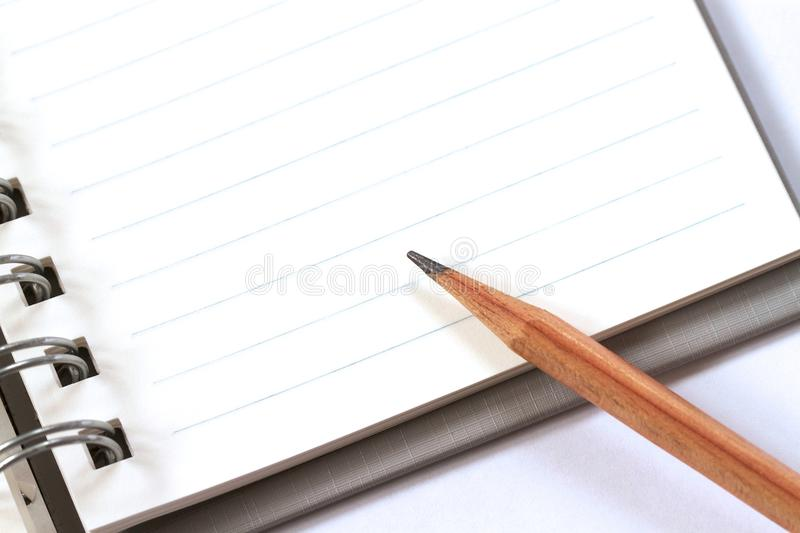 A pencil on note book