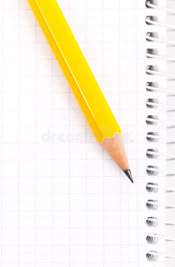 Download Pencil on a notebook stock photo. Image of office, book - 22834518