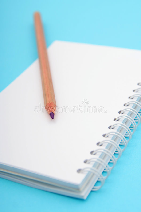 Download Pencil on Notebook stock photo. Image of notepad, education - 470734