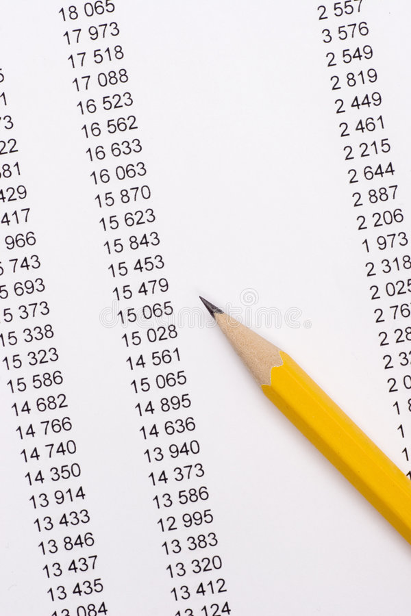 Free Pencil On Documents Stock Images - 1943744