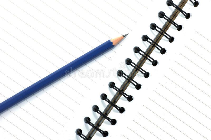 Download Pencil On Open White Paper Note Book Stock Image - Image of office, page: 39510861