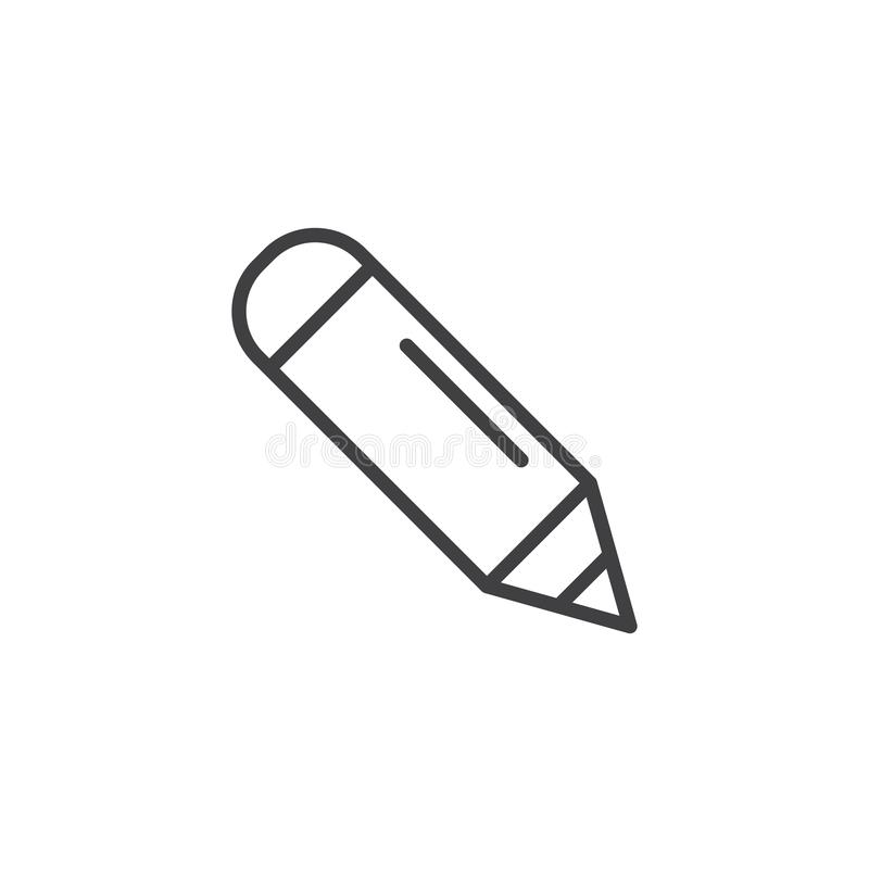 Pencil outline icon vector illustration