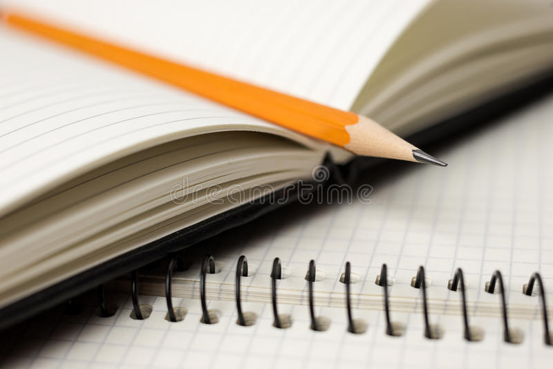 Download Pencil On The Pages Of An Open Notebook For Records Stock Illustration - Illustration of notepad, recording: 83713086
