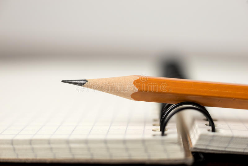 Download Pencil On The Pages Of An Open Notebook For Records Stock Illustration - Image: 83713211