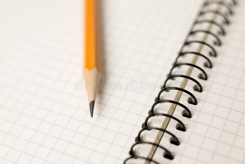 Download Pencil On The Pages Of An Open Notebook For Records Stock Illustration - Image: 83713660