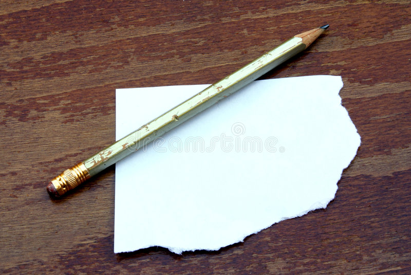 Pencil with paper royalty free stock photos