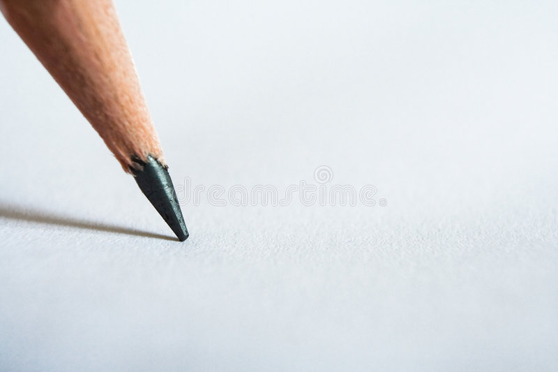Download Pencil and paper stock photo. Image of scribble, dictate - 5617390