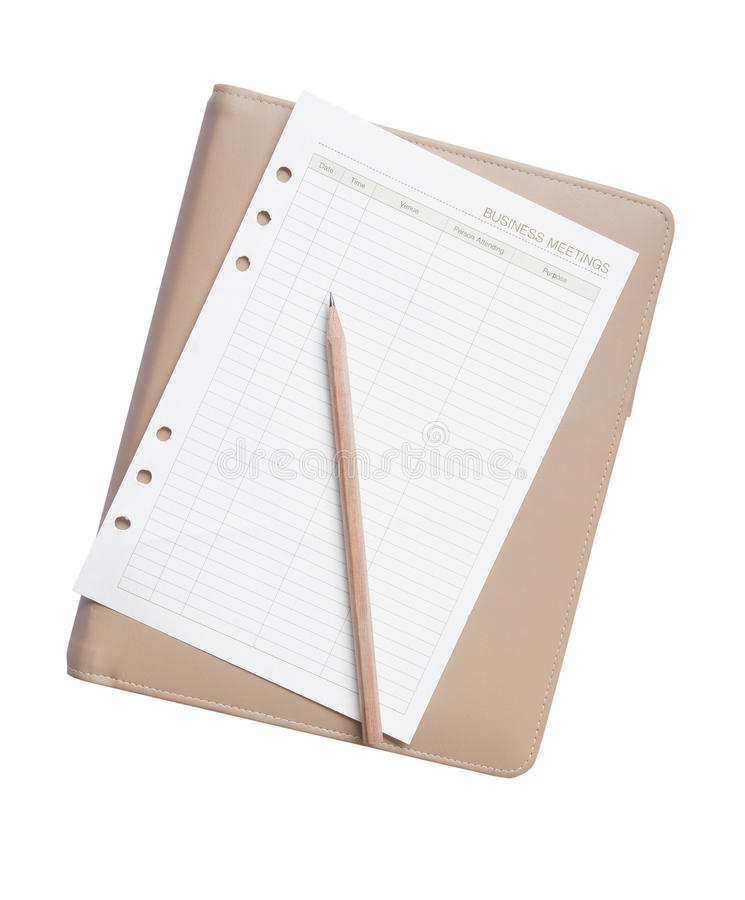 Download Pencil And Paper On Note Book Stock Photo - Image: 26956728