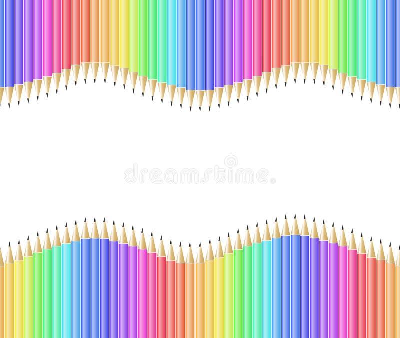 Pencil Pattern Seamless Stock Photography
