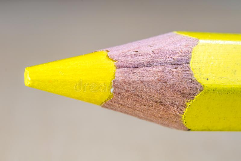 Pencil and pencils at high magnification. Stylus and crayon pencil for drawing and sketching for cartoonists. Light background stock photos