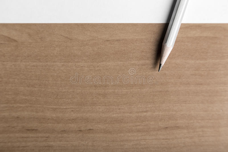 Pencil point. A sharpened pencil and copy space, gets right to the point royalty free stock photography