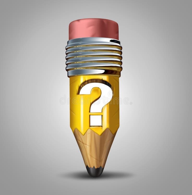 Pencil Question Mark stock illustration