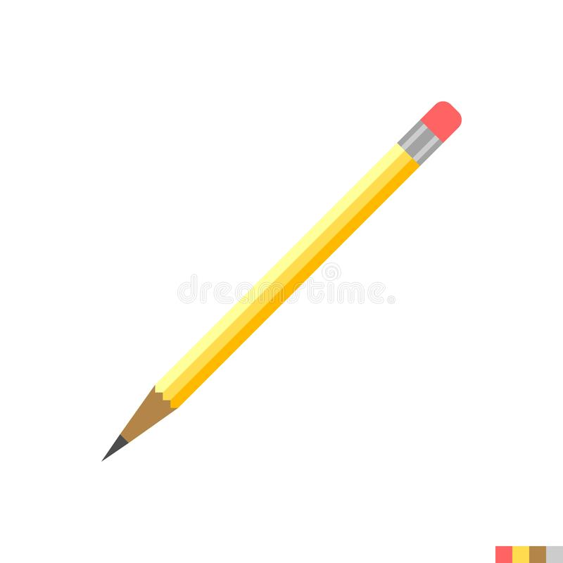 Pencil Vector Flat Icon royalty free illustration