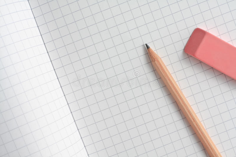 Download Pencil and rubber stock photo. Image of draw, clean, notebook - 11750188