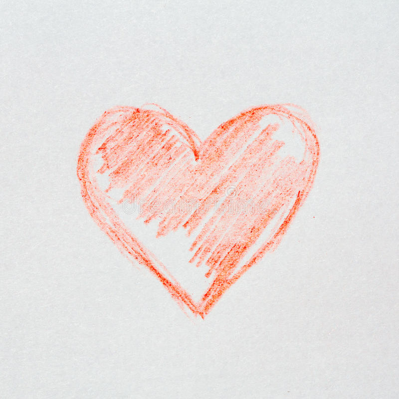 Sketch- heart stock photography