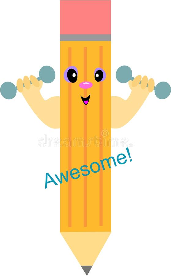 Download Pencil Says Awesome! stock vector. Image of tool, wood - 14148860