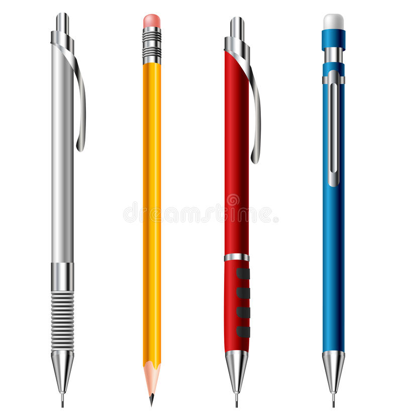Download Pencil set stock image. Image of object, mechanical, eraser - 32737583