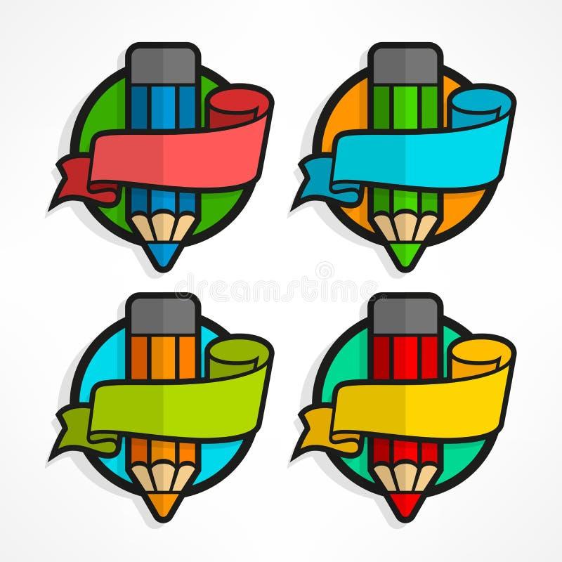 Download Pencil set. Ribbon stock illustration. Image of drawing - 83701682