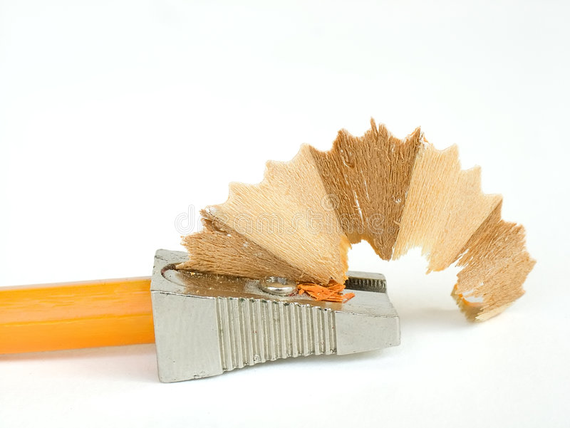 Pencil sharpener. A pencil in a pencil sharpener royalty free stock images