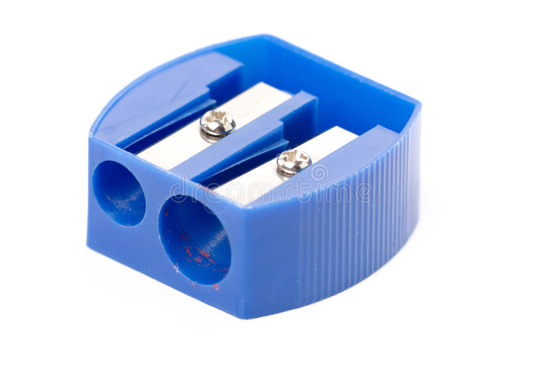 Pencil Sharpener. With white background royalty free stock photos