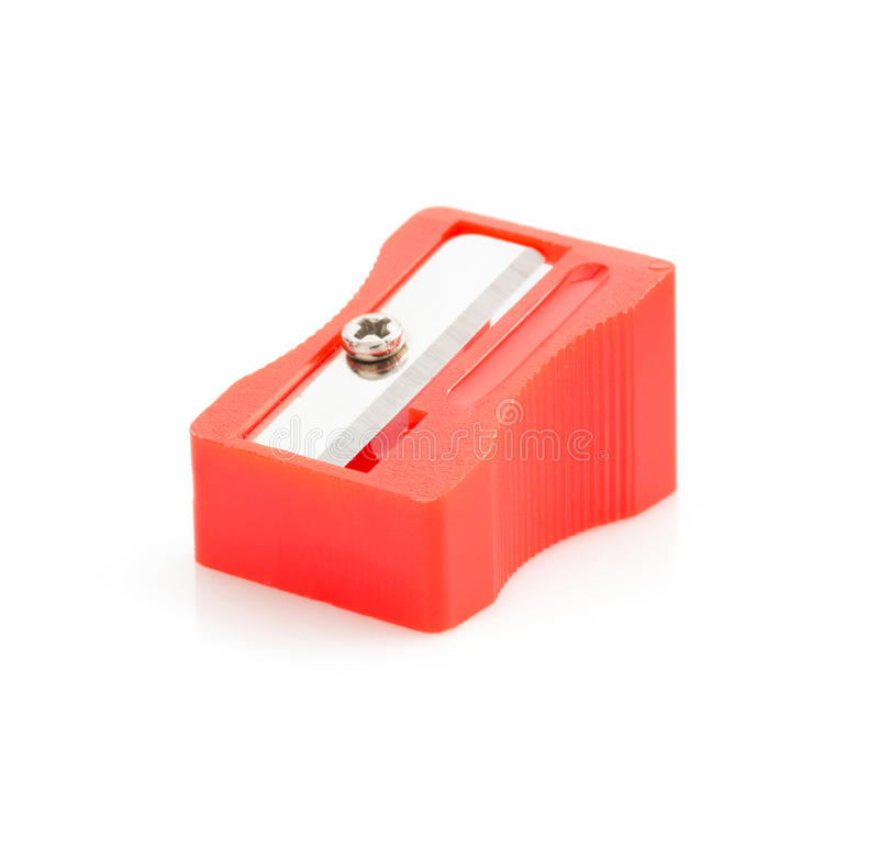 Pencil sharpener on white. Pencil sharpener isolated on white background royalty free stock image