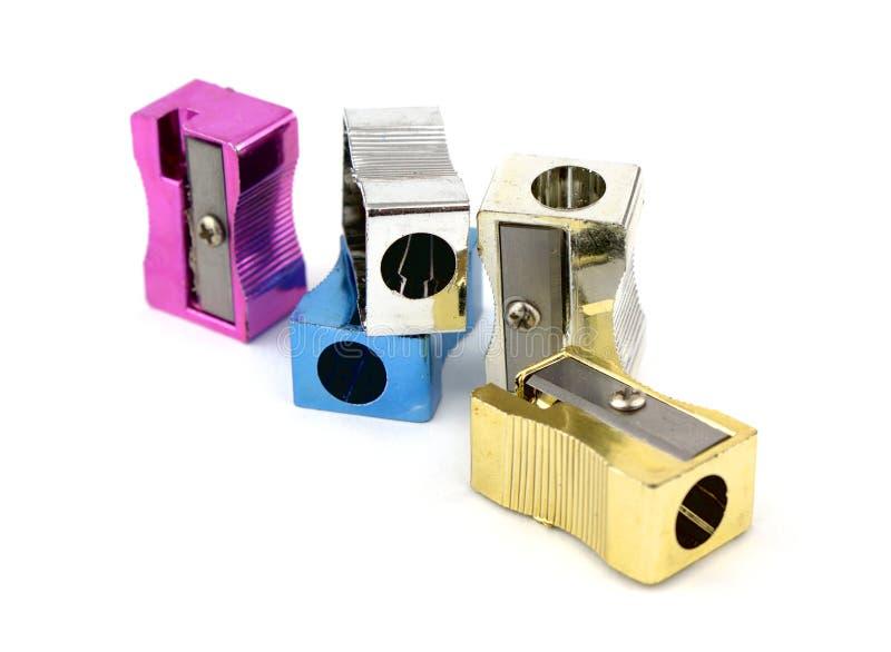 Pencil sharpeners royalty free stock image