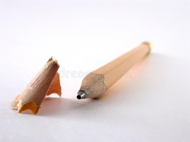 Pencil and Shaving stock image