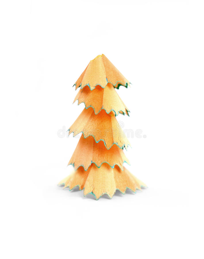 Pencil shaving tree stock photos