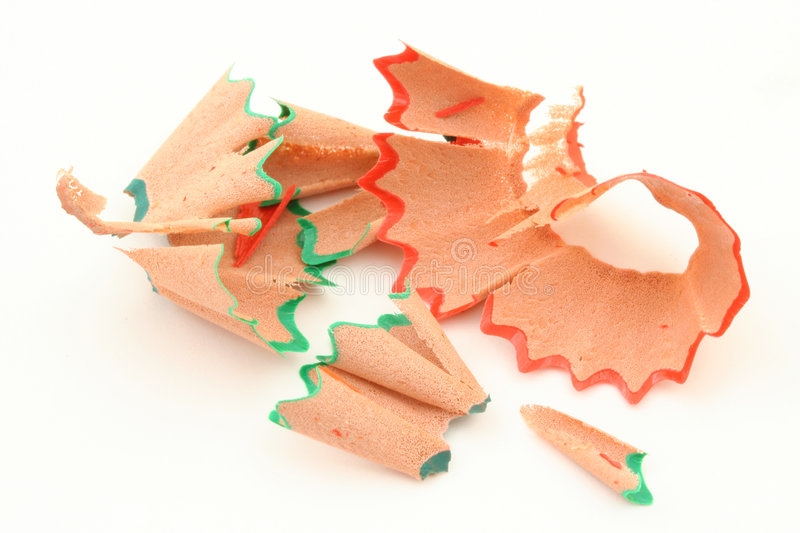 Download Pencil shavings  on white stock photo. Image of color - 1014296
