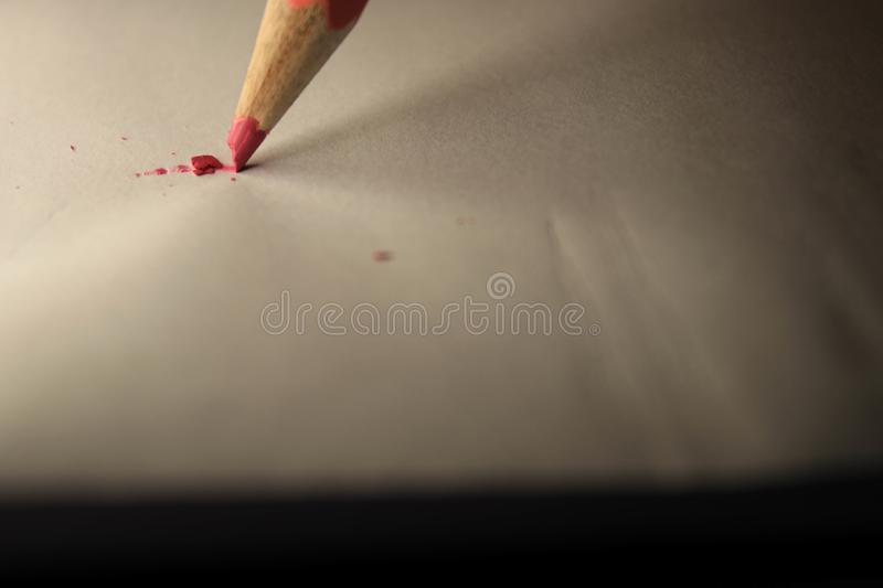 Pencil on sheet royalty free stock images