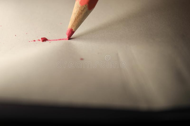 Pencil on sheet royalty free stock photos