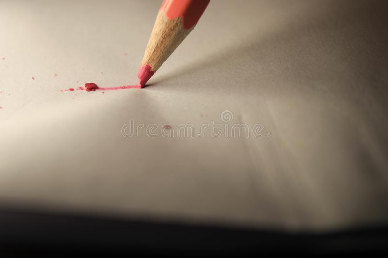 Pencil on sheet royalty free stock image