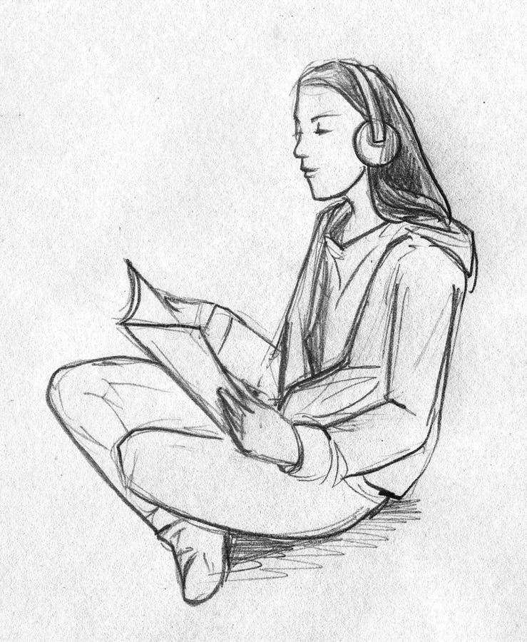 teenage girl sketch